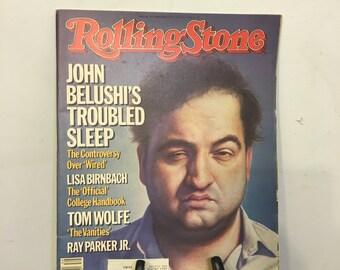 1984 John Belushi Rolling Stone Magazine, Vintage John Belushi's Troubled Sleep Rolling Stone, Rolling Stone Magazine, Gifts under 20 Dollar