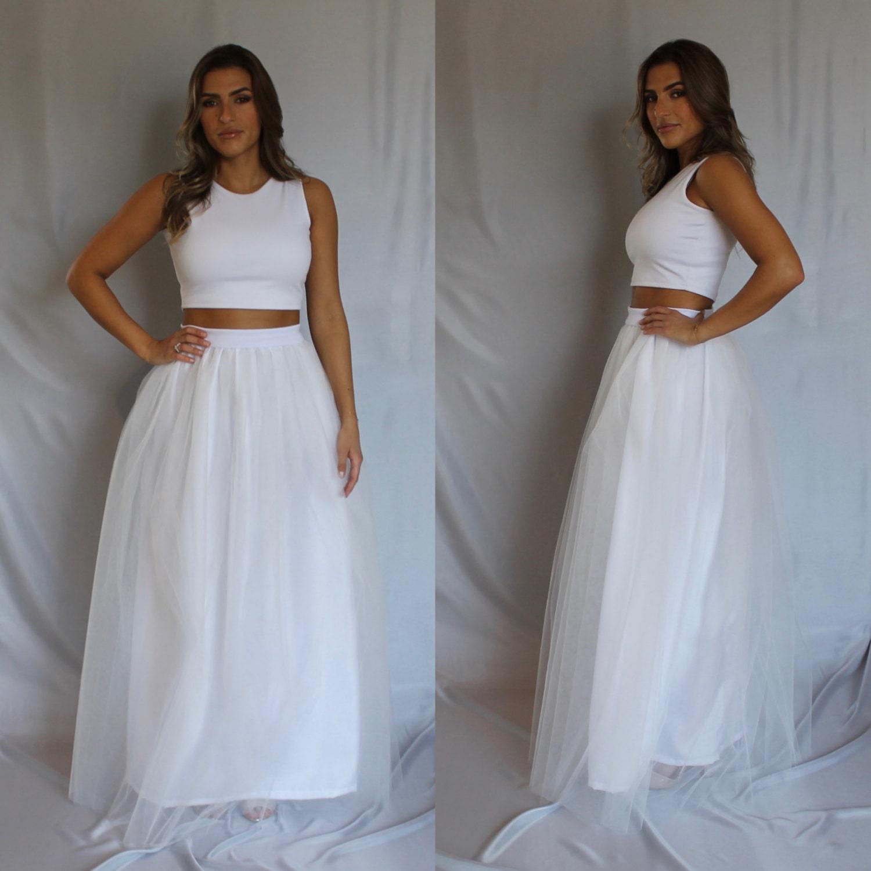 🔎zoom - White Tulle Skirt Tulle Skirt Maxi Tulle Skirt Long Tulle
