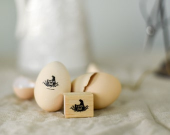 Custom Chicken Stamp for Fresh Eggs with Hen