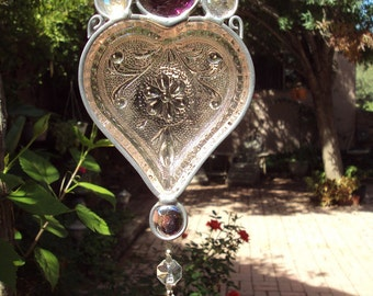 Tiara Heart Suncatcher