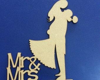 Mr & Mrs Cake topper, weddings, made of wood