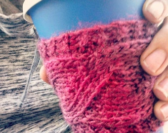 Custom Cabled Coffee Cozies!