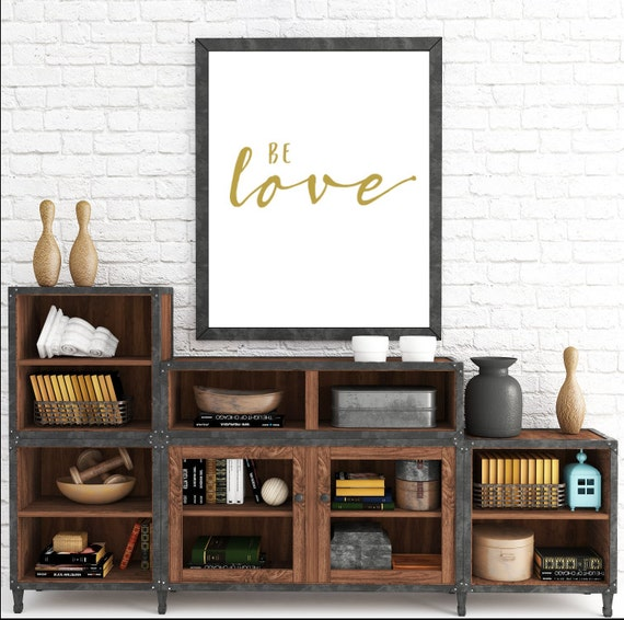 Be Love, Yellow Art, Gold Print, Yellow and Gold, Love Printable, Adoption Gifts, Adoption, Love, Love Print, Printable Wall Art, Nursery