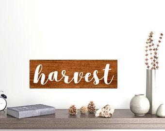 Harvest wood sign fall rustic wood sign 5.5x18 FREE SHIPPING