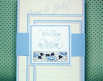 Handmade Wedding Invitation Sample - Oriental Style - Choose Your Colour