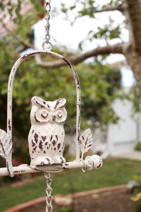 Wind Chime Windchime Owl Decor Wind Chimes Cast Iron Owl