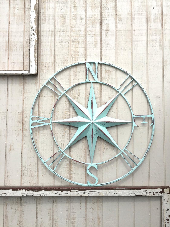 Large Nautical Wall Decor : Nautical compass wall art decor