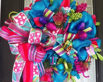 Whimsical Christmas Wreath, Decoration, Wreath for door, front door wreath, Christmas Decoration, Holiday Wreaths