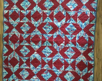 Lap quilt , couch throw, baby quilt, quilt