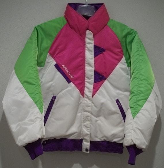 vintage 80s arctic cat snowmobile coat womens m arcticwear usa
