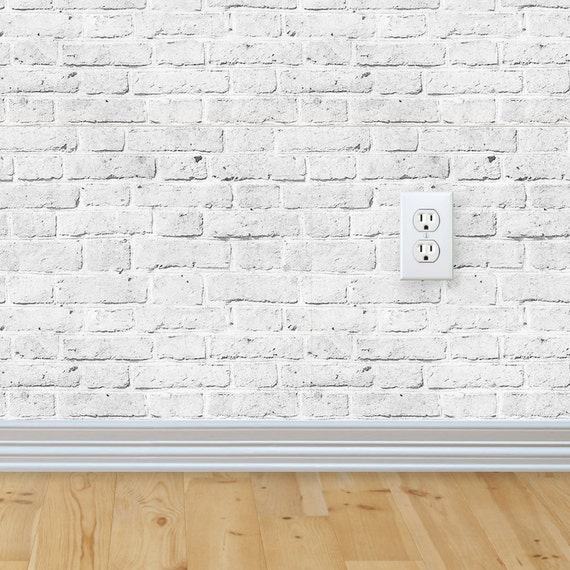White brick wallpaper aged vintage look self adhesive fabric for White adhesive wallpaper