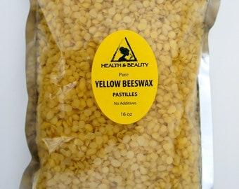 16 oz, 1 Lb YELLOW BEESWAX Bees WAX Organic Pastilles Beards Premium Prime Grade A 100% Pure