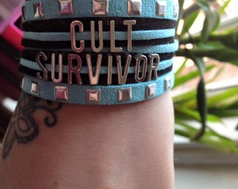 Cult Survivor bracelet - Ex_JW, Ex Jehovahs Witness, Faux Suede