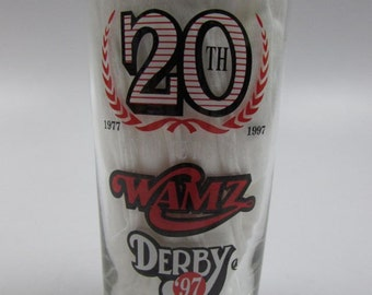 WAMZ Radio Kentucky Derby Jim Beam Mint Julep Glass