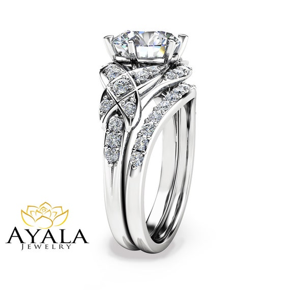 like this item - Moissanite Wedding Rings