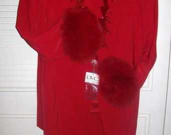 Vintage Evening Formal Party Suit Fox Cuffs by DVC Absolutely Gorgeous  Size 18 - 20