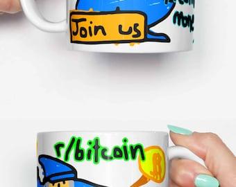 Bitcoin magic internet money - funny mug, gifts for him, meme mug, unique mug, office mug, housewarming gift, gifts for her 4M081
