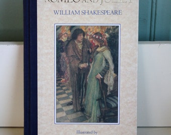 Vintage Book Romeo and Juliet William Shakespeare Illustrated William Hatherell