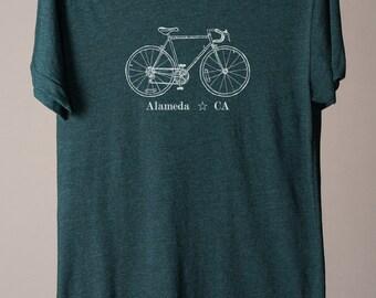 Alameda bike tee, Alameda California shirt, Alameda shirt, cycling tshirt