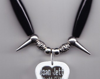 Joan Jett and the Blackhearts Guitar Pick Necklace