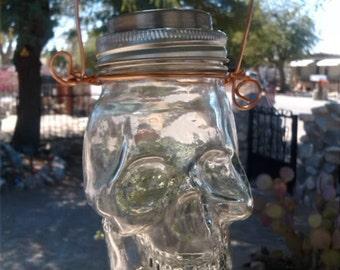 Glass Skull Solar Light