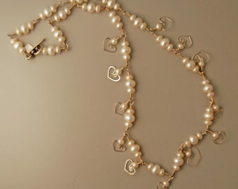 Hearts and Pearls Necklace