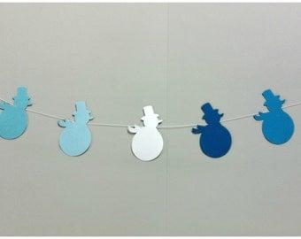 Christmas Garland / Snowman Garland / Christmas Decor / Holiday Decoration / Snowmen Wedding Garland / Holiday Deco / Snowman Bunting