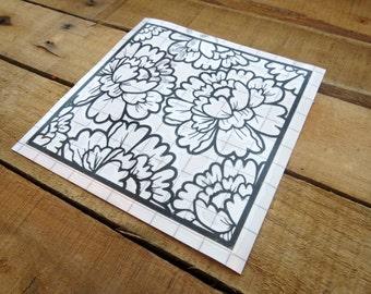 Floral Vinyl Sticker