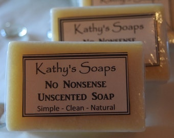 No Nonsense - All Natural Handmade Soap,Unscented Soap, Shea Butter Soap, Vegan Soap, Soap for Babies, Baby Girl, Baby Boy, Baby gift Soap