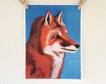 Fox Print - Fox Artwork - Woodland Animal Print