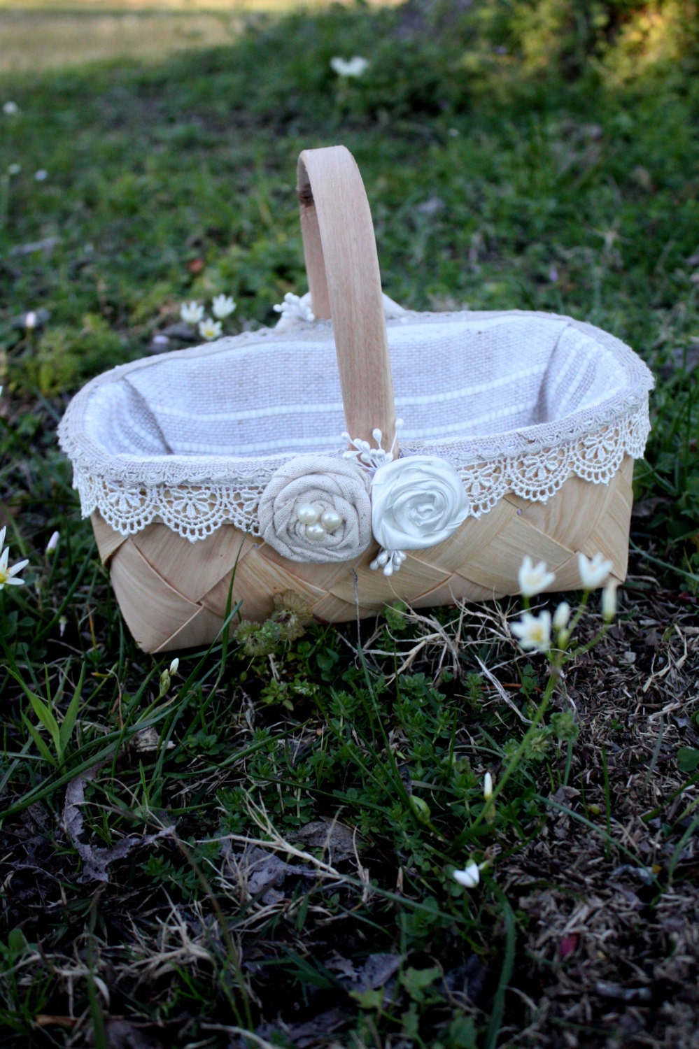 Flower Baskets For Wedding : Flower girl baskets wedding burlap