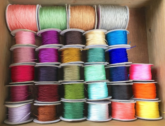 Change Your Knotting Cord, Customize Your Knotting Cord On Your Mala, Nylon Knotting Cord Color Choices