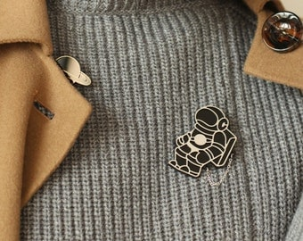 Interstellar Collection the lonely astronaut with planet brooch