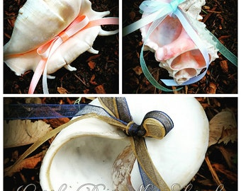 Sea Shell Beach Wedding Ring Bearer Pillow-Mermaids Ring Holder- Ring Pillow Alternative