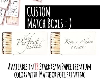 The Perfect Match Match Boxes - Custom Made Matchboxes  as Wedding Favor - Country Wedding - Custom Matchbook -  Wedding Decor - Match Boxes