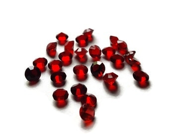 January Birthstone Crystal Floating Charm for Floating Lockets-Garnet-Dark Red-5mm-1 Piece-Gift Ideas