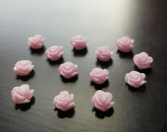 Light Purple Rose Floating Charm for Floating Lockets-1 Pc-Gift Idea for Women