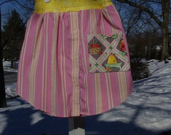 Upcycled Mary Engelbreit Skirt, Girls size  8 / 9/ 10
