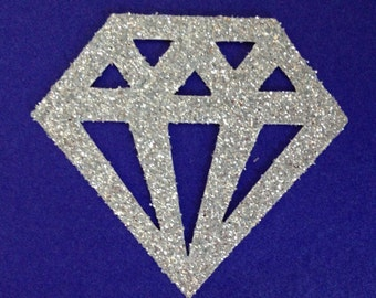 Diamond Glitter Die Cut - Engagement Party Decorations - Card topper - Birthday - Princess