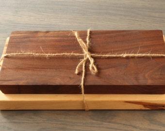 Wooden Cheese Board Set, Serving Board Set, Ambrosia Maple, Walnut, Wooden Cheese Board