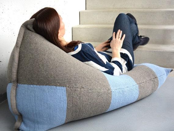 Wool Bean Bag Rest Bag Floor Cushion Bean Bag Chair By Nammini