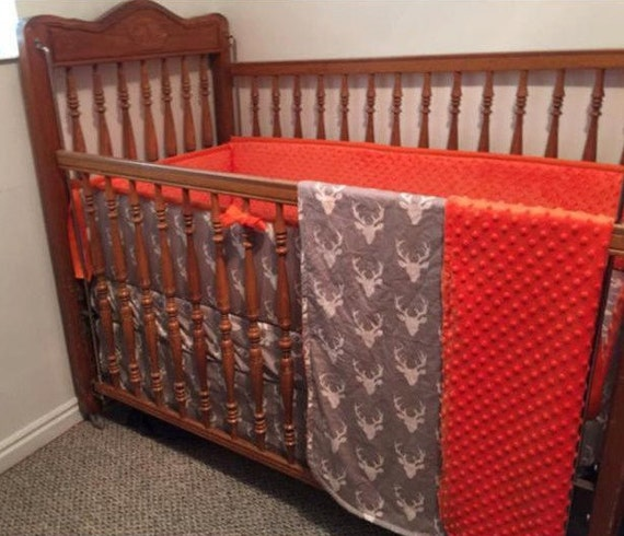 Deer Baby Bedding Set Custom Crib Bedding Deer Crib