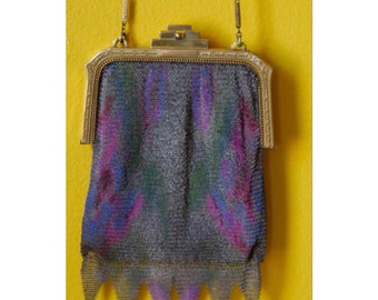 Whiting and Davis Mesh Bag with original mirror