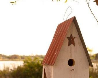 Amish Handcrafted Garden Bird House