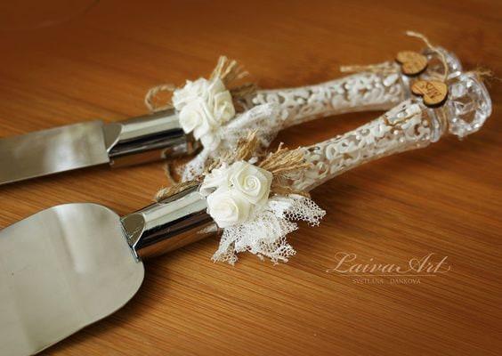 Wedding Cake Server Set Amp Knife Rustic Wedding Cake Cutting