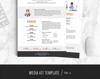 Media kit press kit templates easy to edit clean high media kit template media kit design for bloggers instant download no pronofoot35fo Image collections