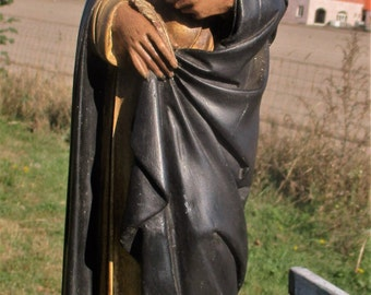 Antique Vintage Saint Teresa of Avila Statue Figurine Plaster National patron