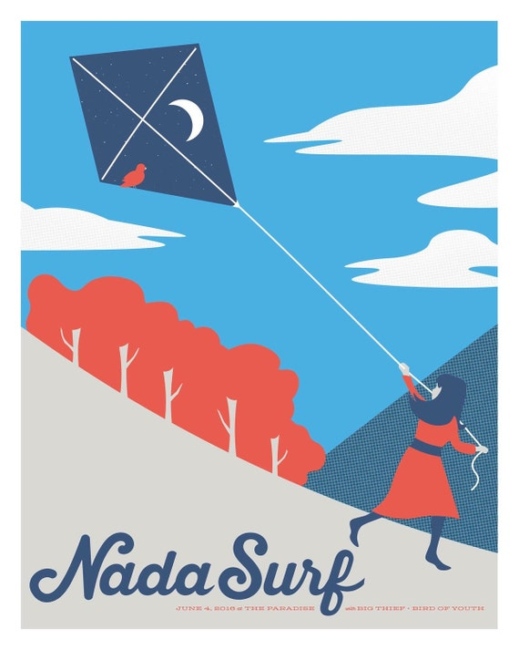 Nada Surf // The Paradise, Boston. 16x20 screenprint.