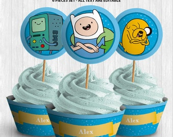 Adventure Time Cupcake Decor