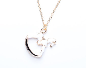 Rocking Horse Necklace | Gold Plated Rocking Horse Necklace | Rocking Horse Jewellery